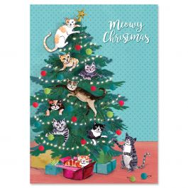Meowy Christmas Cards - Personalized