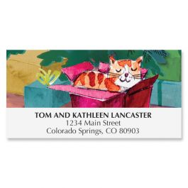 Meowy Christmas Deluxe Address Labels