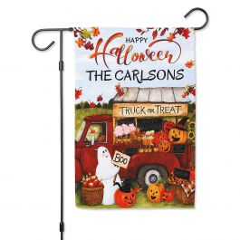 Truck or Treat Personalized Garden Flag