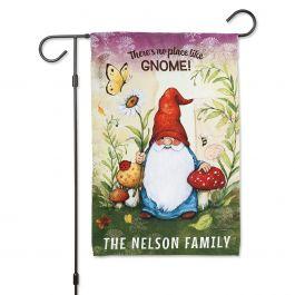 Gnome Personalized Garden Flag