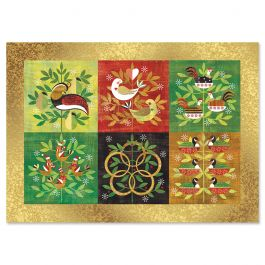 Partridge Deluxe Christmas Cards - Personalized