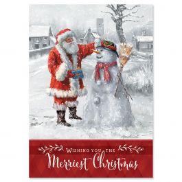 Santa & Snowman Christmas Cards - Nonpersonalized