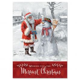 Santa & Snowman Christmas Cards - Personalized