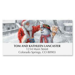 Santa & Snowman Deluxe Address Labels