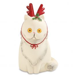 Christmas Cat with Antlers