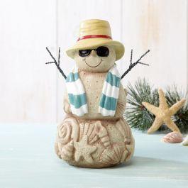 Large Sand Snowman Figurine