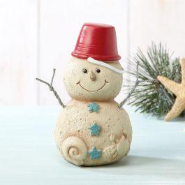 Small Sand Snowman Figurine
