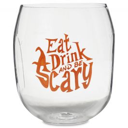 Be Scary Unbreakable Halloween Wine Glass