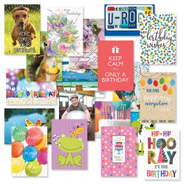 Festive Mega Birthday Cards Value Pack - Set of 80