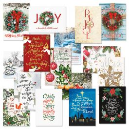 Faith Classic Christmas Cards Value Pack - Set of 64