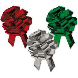 Christmas Metallic Pull Bows - Set of 48
