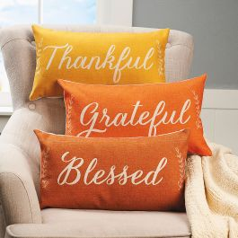 Thankful, Grateful, Blessed Pillows - Set of 3