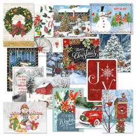 Classic Christmas Card Value Pack - Set of 64