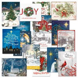 Expressions of Faith® Classic Christmas Cards Value Pack - Set of 64
