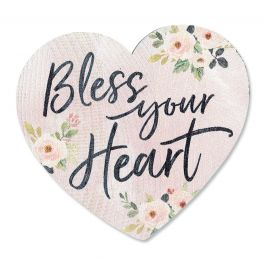 Bless Your Heart  Decorative Wooden Heart