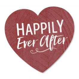 Happily Ever After Decorative Wooden Heart