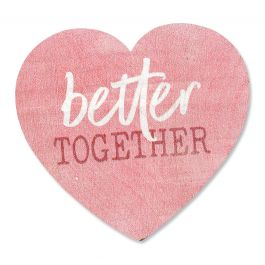 Better Together Decorative Wooden Heart
