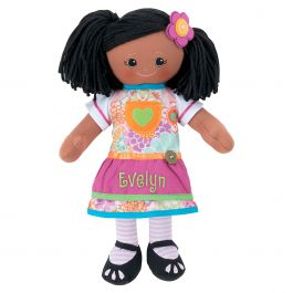 African American Rag Doll with Apron Dress
