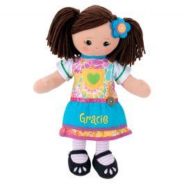Hispanic Rag Doll with Apron Dress