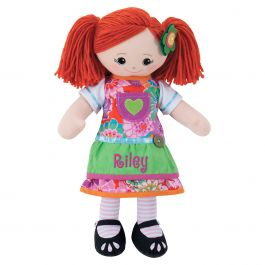 Red-Hair Rag Doll with Apron Dress