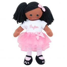 Personalized African American Rag Doll with Tutu