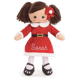 Hispanic Rag Doll in Santa Dress
