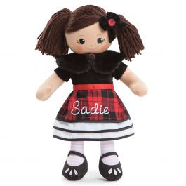 Hispanic Rag Doll in Plaid Dress