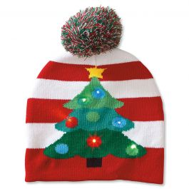 Lighted Tree Stocking Cap
