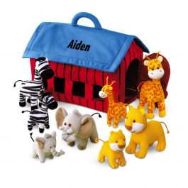 Personalized Plush Zoo Animals Play Set Current Catalog