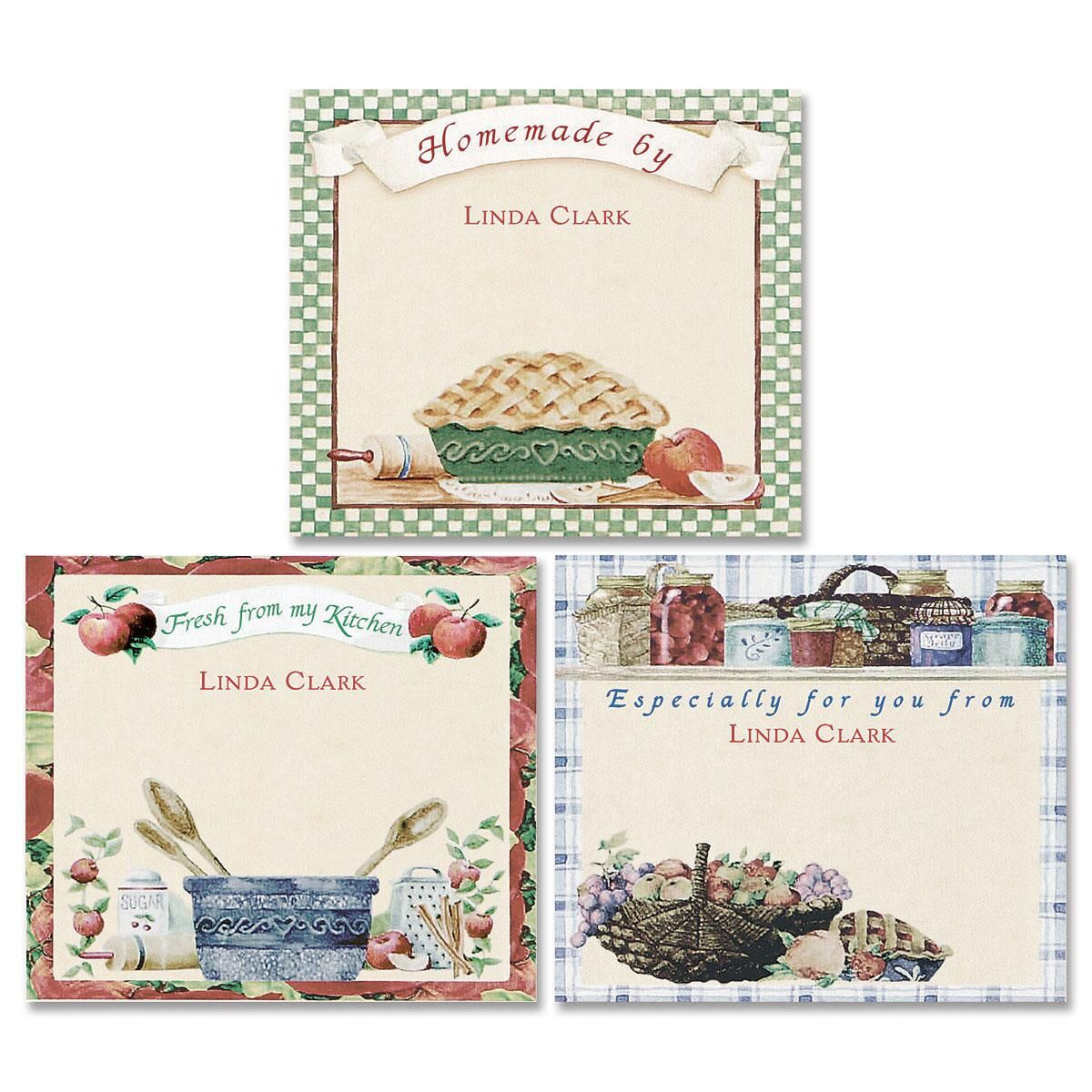 Vicky's Country Kitchen Canning Jar Labels  (3 Designs)