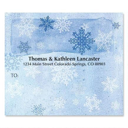 Snowflakes Mailing Package Labels