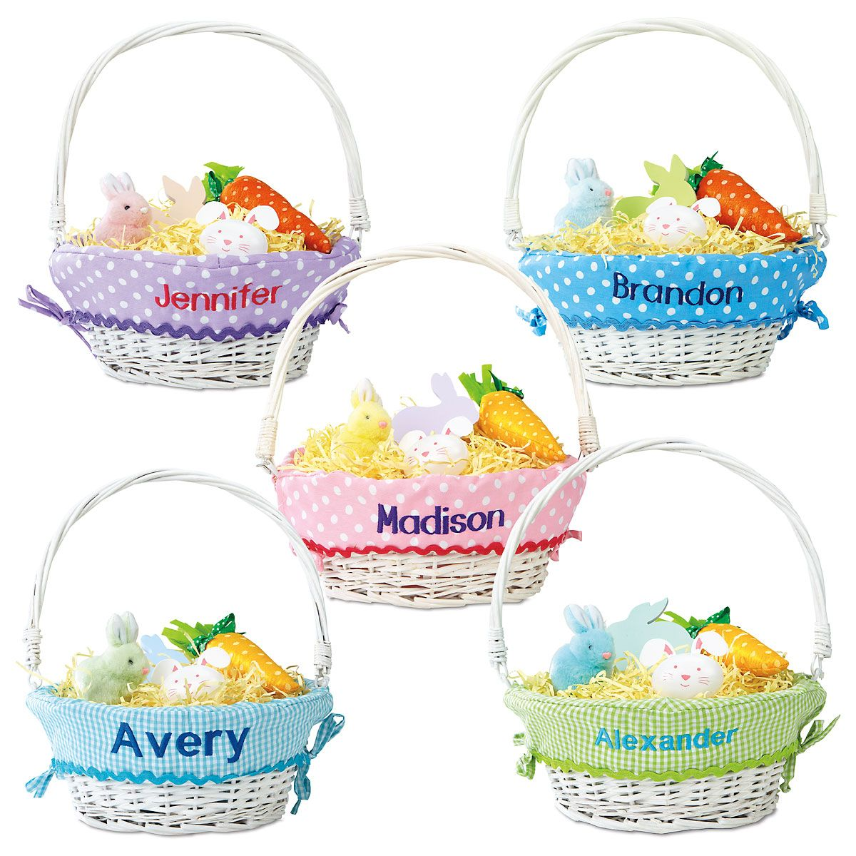 Personalized easter basket with liners current catalog kids personalized easter basket with liners negle Images