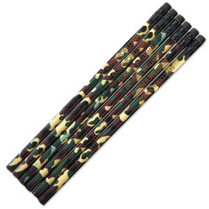 Camouflage #2 Hardwood Personalized Pencils