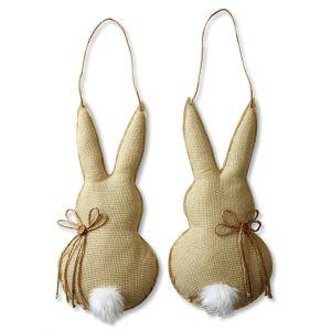 Hanging Burlap Bunny Decoration