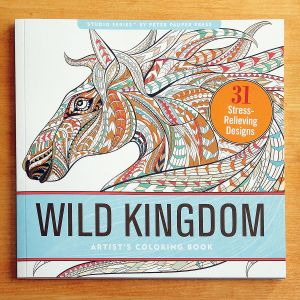 Wild Kingdom Coloring Book for Adults