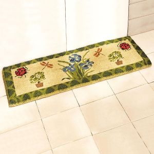 Iris and Ladybug Double-Width Doormat by Lillian Vernon