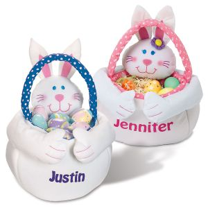 Personalized Easter Bunny Basket Totes