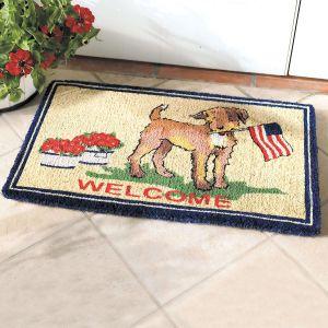 Patriotic Pup Coco Doormat