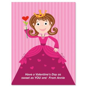 Valentine Princess Personalized Cards