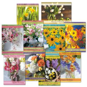 Floral Birthday Cards Value Pack