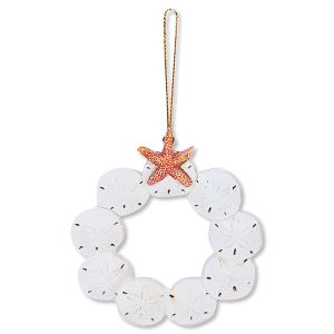 Sand Dollar Wreath Beach Ornament