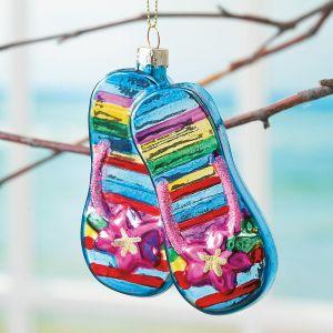 Glass Flip Flop Ornament