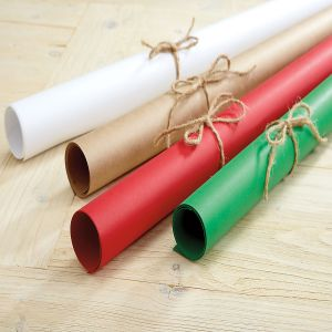Jumbo Rolls of Plain Kraft Gift Wrap
