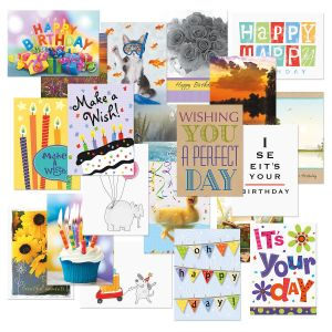 mega birthday greeting cards value pack - Birthday Card Packs