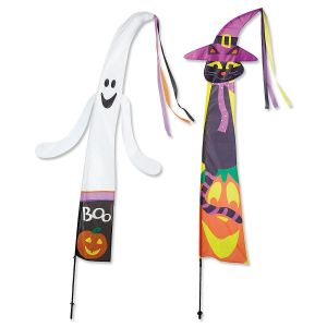 Ghost & Cat Fairy Tale Halloween Flags