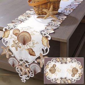 Seashell Table Runner & Place Mats
