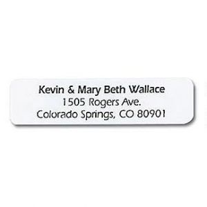 White Mini Address Labels