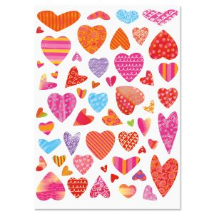 Bright Hearts Stickers