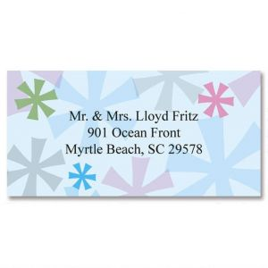 Retro Patterns Border Address Labels  (6 designs)