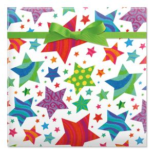 Stars Jumbo Rolled Gift Wrap
